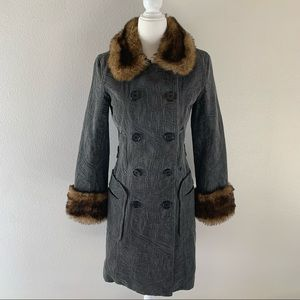 Plenty long coat with faux fur
